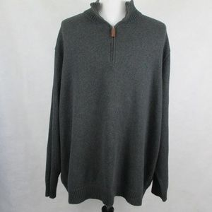 Polo Ralph Lauren 4XLT 1/4 Zip Sweater Gray